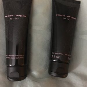 Narciso Rodriguez hand cream and body lotion